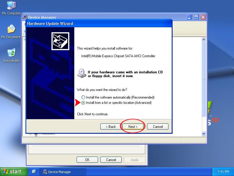 Xp на новый компьютер драйвер ide
