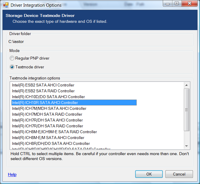 INTEL RAID CONTROLLER SRCS16 DRIVER FOR WINDOWS