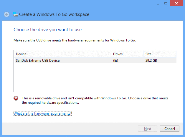 how to install updates on usb windows to go drive