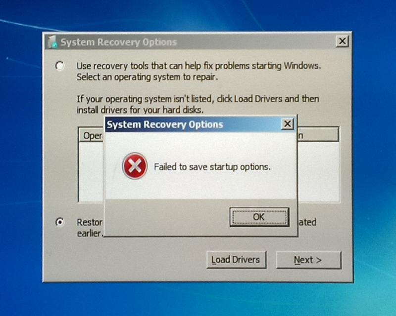 Solved) Windows Recovery: Failed To Save Startup Options
