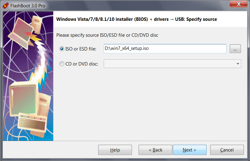 create a windows 7 install usb from disk