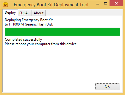 Getting Started with Emergency Boot Kit - Deployed Successfully