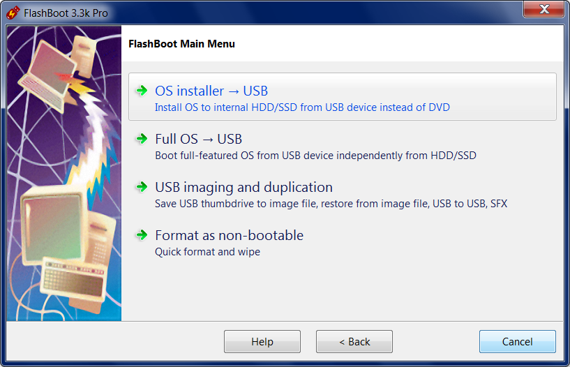 FlashBoot: Create installable clone of Windows on USB thumbdrive